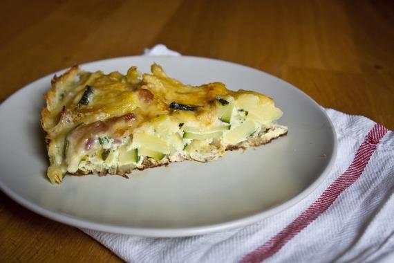 Ham and Zucchini Frittata