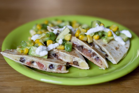 Black Bean Quesadilla with Avocado Corn Relish