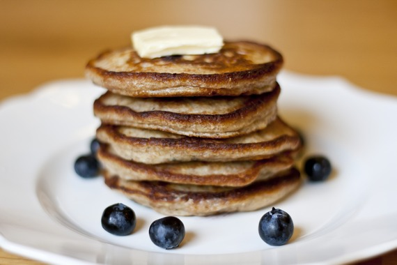 Blueberry-Lemon Whole Wheat Pancakes | My Little Gourmet
