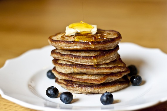 Blueberry-Lemon Whole Wheat Pancakes