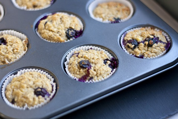 Blueberry Banana Oatmeal Cups | My Little Gourmet