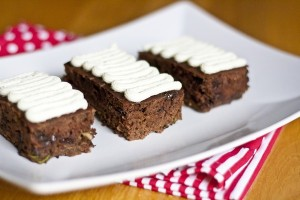 Chocolate Chip Zucchini Bars with Vanilla Cream Cheese Frosting