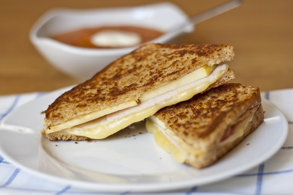 Turkey and Apple Grilled Cheese | My Little Gourmet