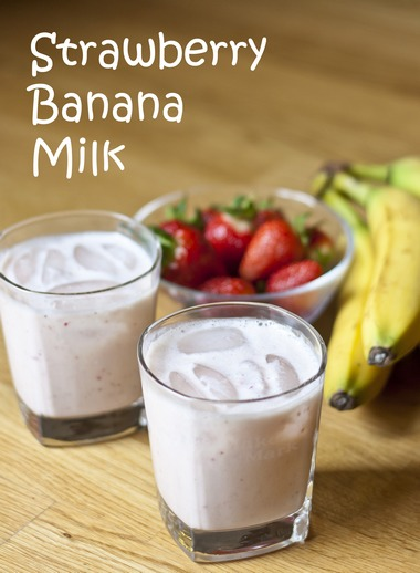 Strawberry Banana Milk | My Little Gourmet