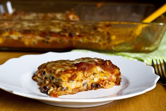Vegetarian Enchilada Casserole | My Little Gourmet