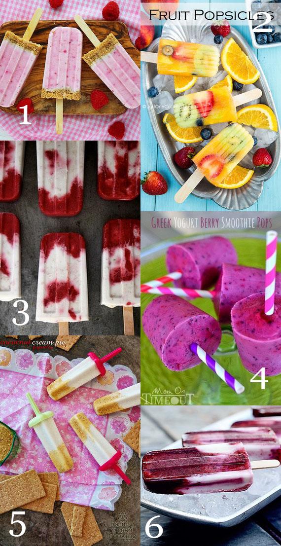 6 Summer Popsicles