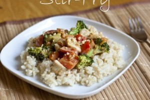 Chicken and Vegetable Peanut Butter Stir-Fry