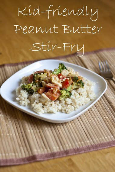 Chicken and Vegetable Peanut Butter Stir-Fry | My Little Gourmet