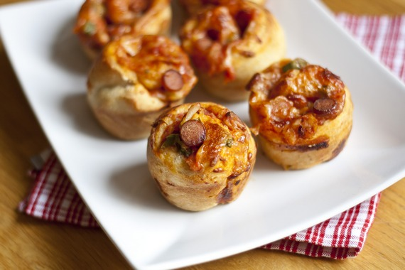 Easy Stuffed PIzza Muffins | My Little Gourmet