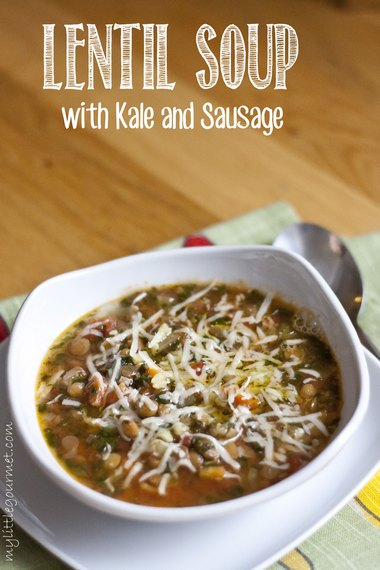 Hearty, healthy, and easy-to-make lentil soup from mylittlegourmet.com