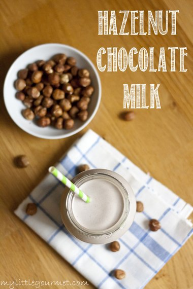 Home-made hazelnut milk is so easy to make and yummy too! from mylittlegourmet.com